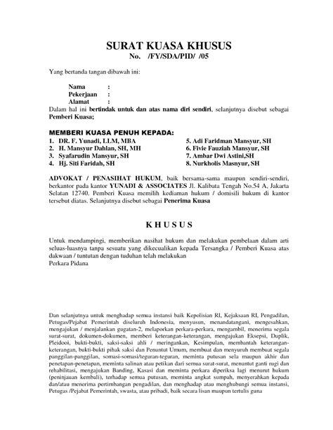 format surat kuasa tun surat kuasa khusus forum diskusi mahasiswa fh unpas