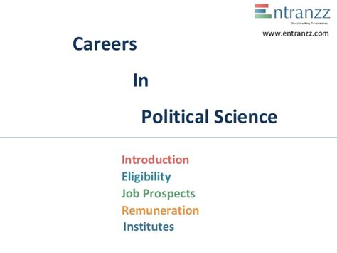 Political Science Mba Careers by Carrers In Political Science
