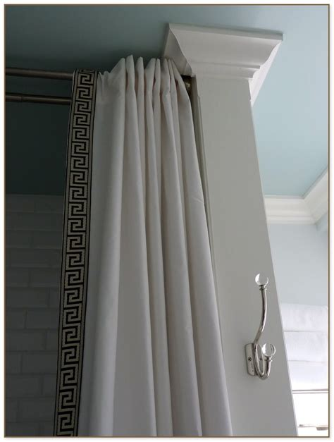 hanging curtains from ceiling hanging shower curtain from ceiling