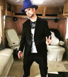 weight loss 55 year the voice s boy george flaunts impressive 40kg weight loss