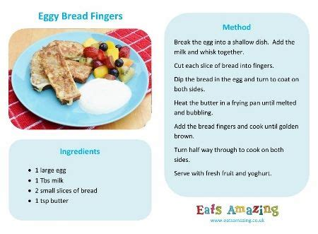 easy recipes for kids eggy bread fingers fingers and bread