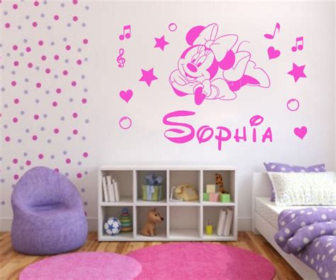 Sticker Wallpaper Dinding Minnie Mickey Hitam minnie mouse d 233 coration de chambre pour b 233 b 233