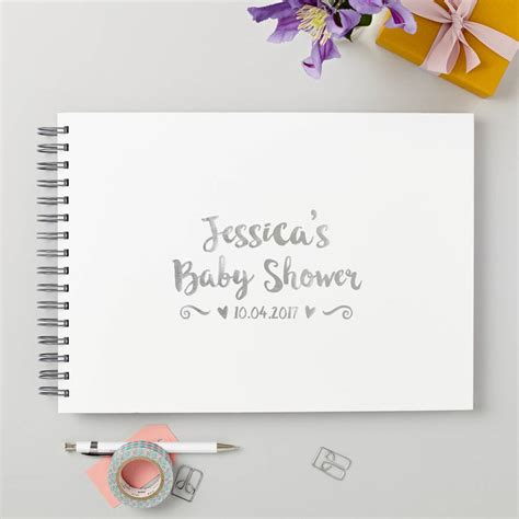 Baby Shower Guest by Personalised Baby Shower Guest Or Memory Book By Give