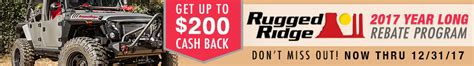 rugged ridge rebate cj pony parts sales rebates coupons and promotions