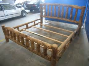 How To Build A Log Bed Frame Woodwork How To Make A Log Bed Frame Pdf Plans