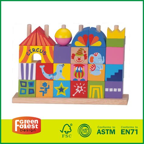 Circus Building Block 188 40 circus wooden stacking block toys green forest toys gifts co ltd wooden toys manufacturer