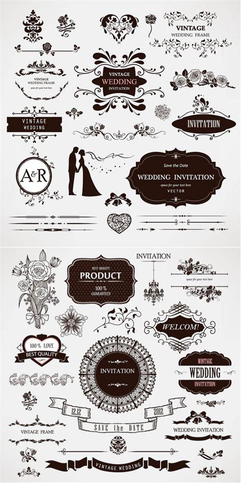 wedding invitation graphic design vector wedding decor vector free vectorpicfree
