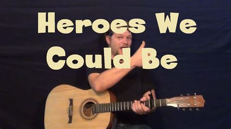 alesso heroes we could be heroes we could be alesso easy guitar lesson how to play