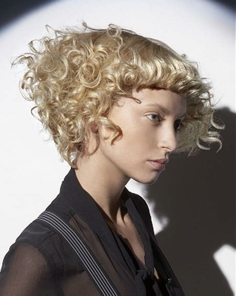 hairstyles for permed short hair with bangs perm hairstyles for short hair