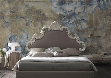tappezzeria da letto carta da parati vintage con fiori romantica toni