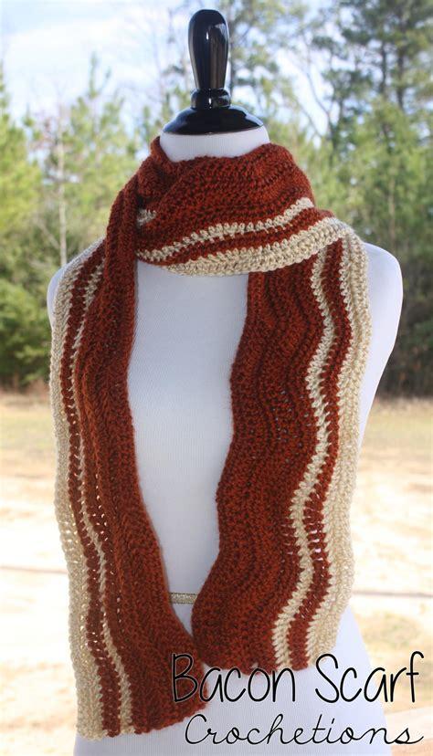 bacon crochet scarf allfreecrochet