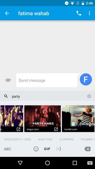 search by image on android how to search for and send gifs from the keyboard in android 7