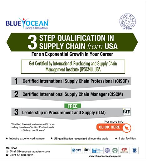 Mba Supply Chain Management Starting Salary by 3 Steps Qualification In Supply Chain From Usa Blue