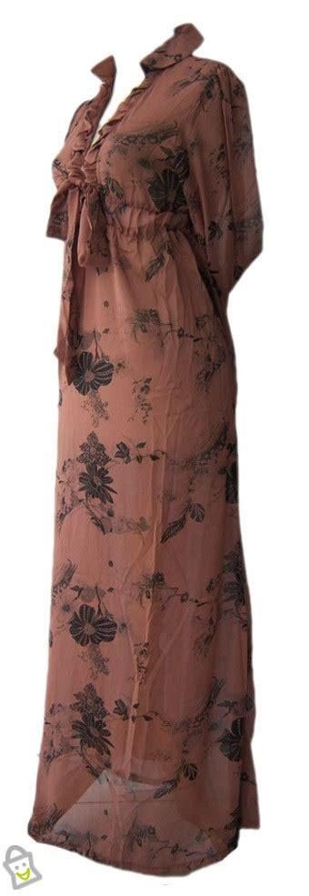 Butik Baju Gamis Unik store co id baju wanita murrona gamis brown allsize