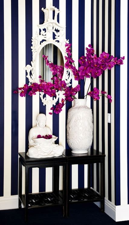 white and navy blue striped wall eclectic bedroom navy blue striped walls eclectic entrance foyer