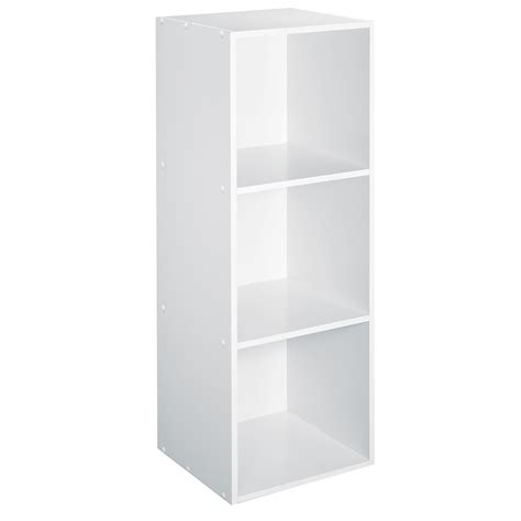 Cube Shelf White essential home 3 cube storage unit white shop your way