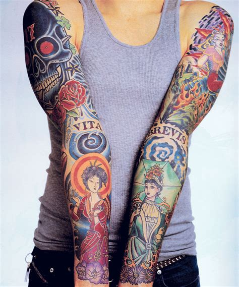 mexican tattoos sleeves mike zen garage