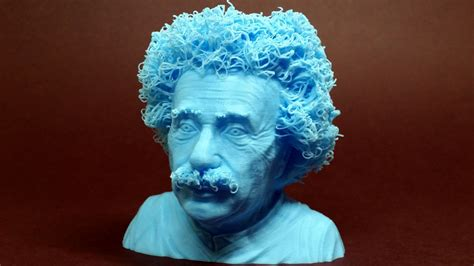 Bunch Of Flowers In A Vase Hairy 3d Prints Hairy Lion And Einstein Printed Using