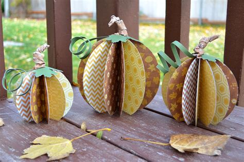 Paper Pumpkins - paper pumpkin decor we r memory keepers