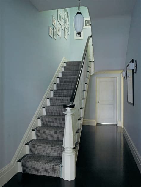 dark wood banister stair runners staircase traditional with handrail runner staircase wainscoting white