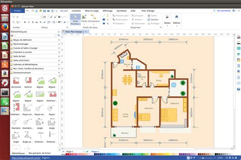 floor plan software linux logiciel pour cr 233 er des plans d architecture sur linux