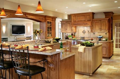 kitchen island ideas with bar most beautiful kitchens traditional kitchen design 13