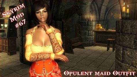 skyrim argonian cbbe mod the elder scrolls v skyrim opulent maid outfit for cbbe