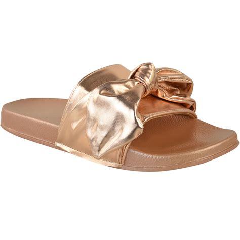 slide on slippers womens slider flat slides sandals slip on mules
