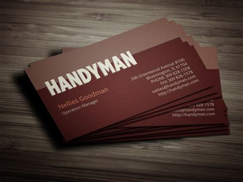handyman business cards templates free handyman toolkit business card business card templates