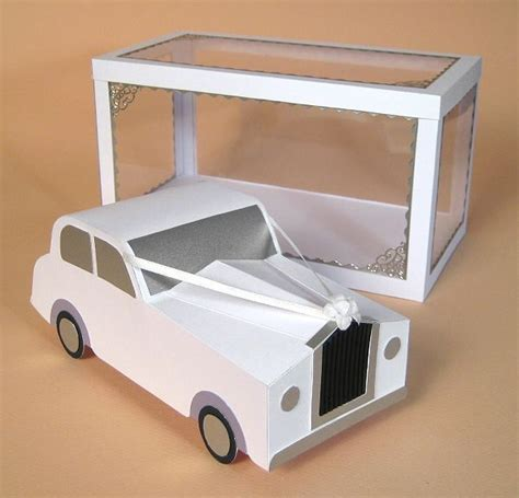 3d Card Craft Templates by A4 Card Templates For 3d Wedding Car Display Box