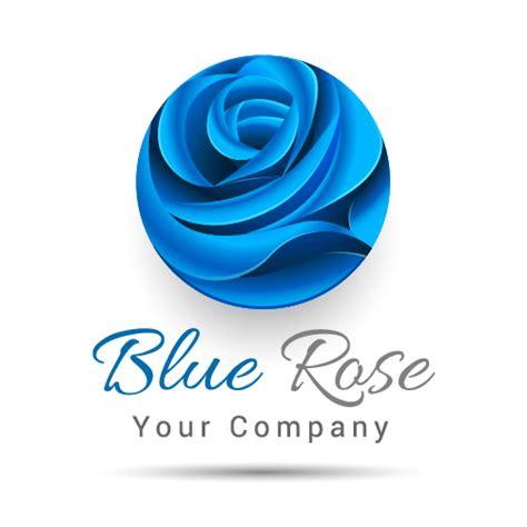 blue pattern logo blue rose logo design vector free download
