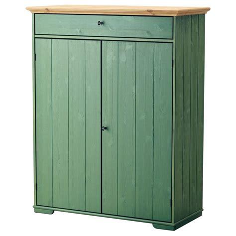 Lemari Linen Linen Cabinet Hurdal Green Solid Pine Cabinets And Pine