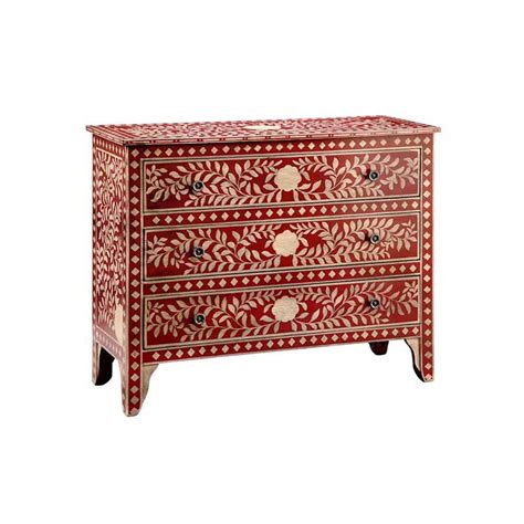 red chest of drawers bedroom transitional red chest of drawers with floral design and
