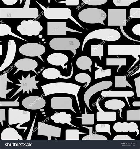 speech pattern en français speech bubbles seamless pattern stock vector 101567926