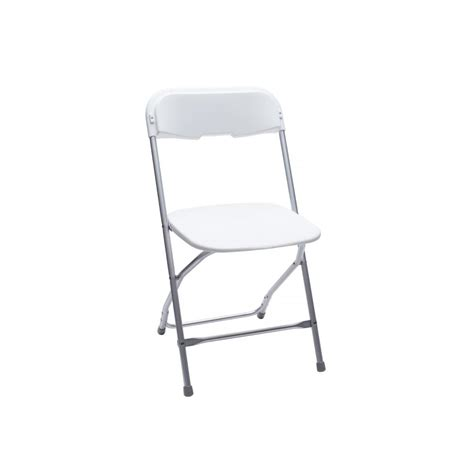 Renting Folding Chairs Baker Rentals White Plastic Folding Chair Rentals