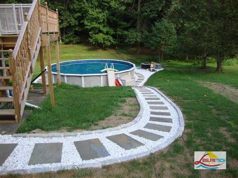 above ground pool landscaping diy pinterest
