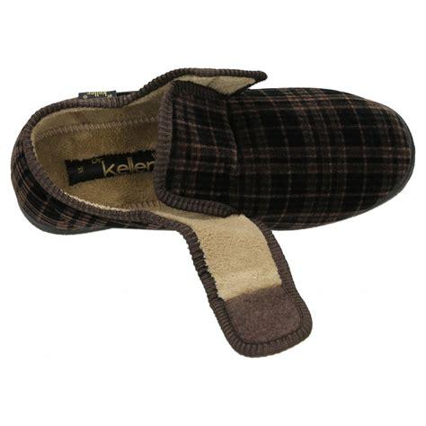 mens velcro slippers dr keller mens velcro fastening cosy slippers house shoes