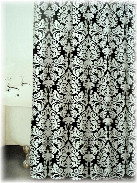 white damask shower curtain black white damask shower curtain college life