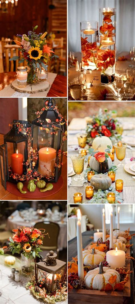 September Wedding Idea by 46 Inspirational Fall Autumn Wedding Centerpieces Ideas