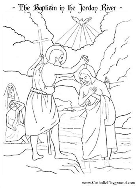 coloring pages of st john the baptist baptism of our lord catholic coloring pages pinterest