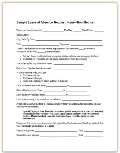 leave request form leave form images cv letter and format sle