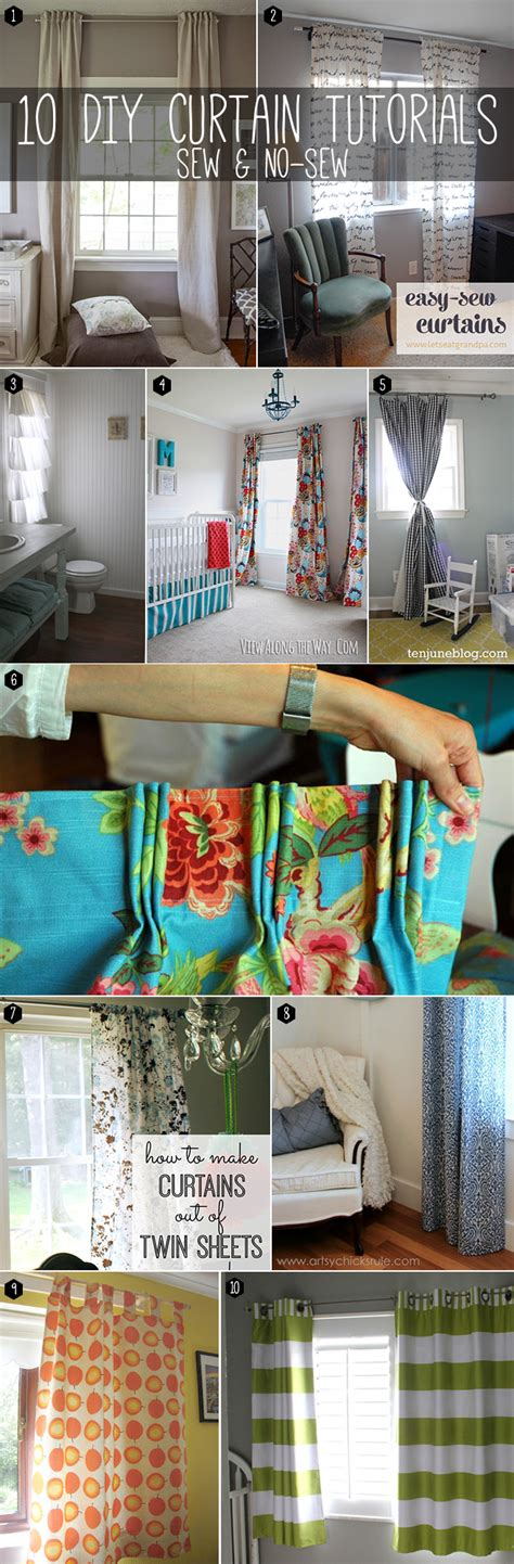 curtain sewing tutorial 10 ways to make curtains sew no sew
