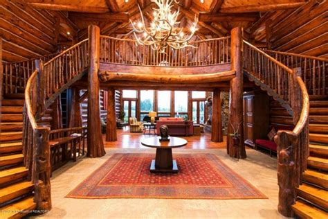 Log Cabin Stairs by Majestic Log Home Staircase 171 The Log Builders