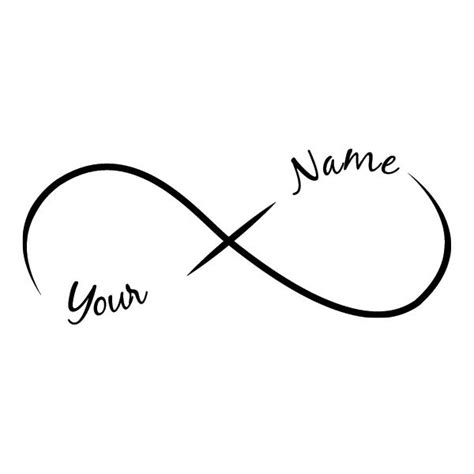 infinity add a name temporary tattoo 2 names by tattoofun