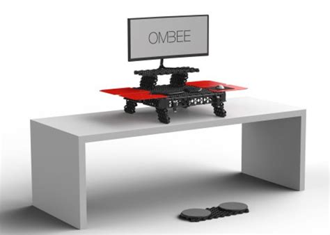 portable stand up desk ombee portable modular standing desk geeky gadgets