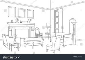 sketch a room layout drawing room editable vector illustration of an outline