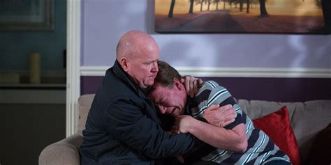 ian comfort eastenders phil to comfort ian after lucy s death