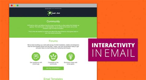 interactive email template using interactive email to highlight content