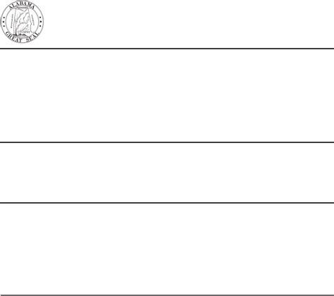 alabama department of motor vehicles alabama motor vehicle affidavit form for free