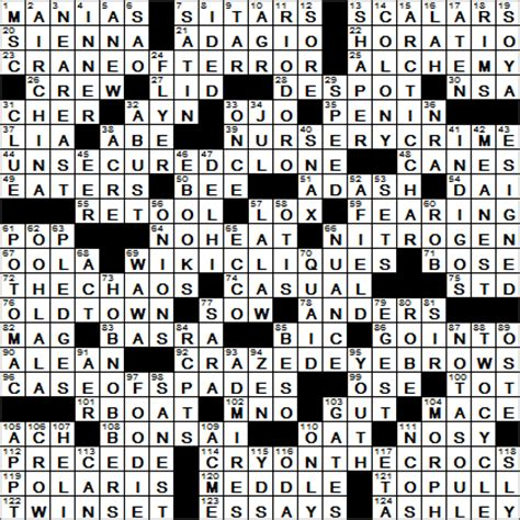 usa today crossword march 11 la times crossword answers 27 mar 16 sunday